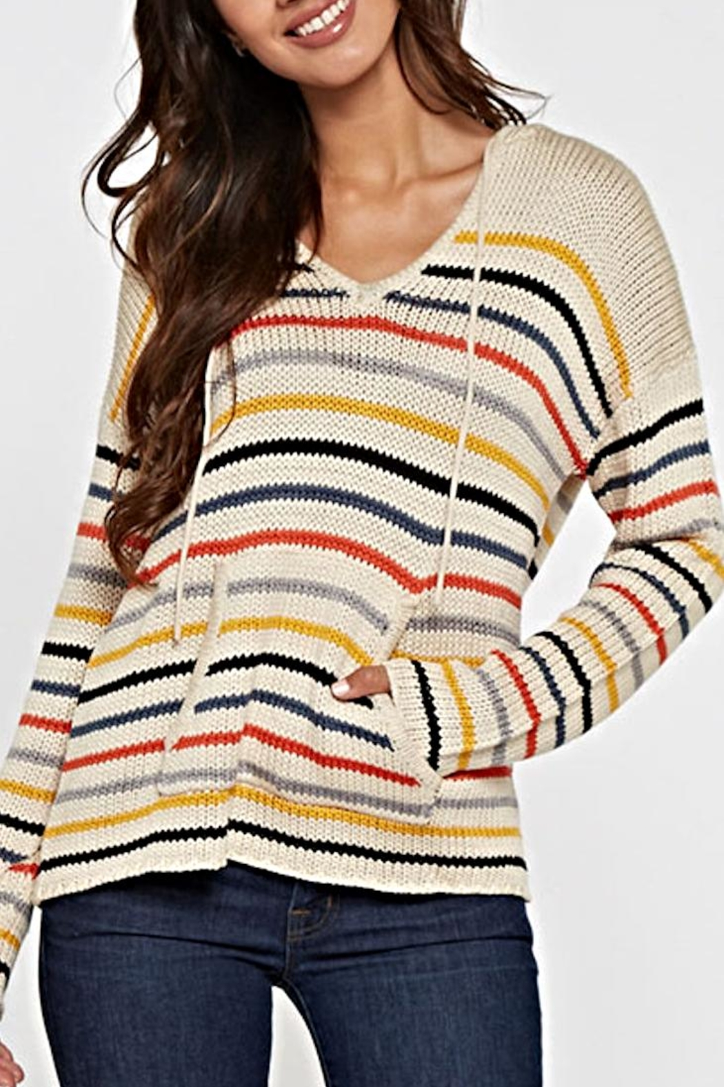 Lovestitch Striped Hooded Sweater from East Hampton by Kailani ...
