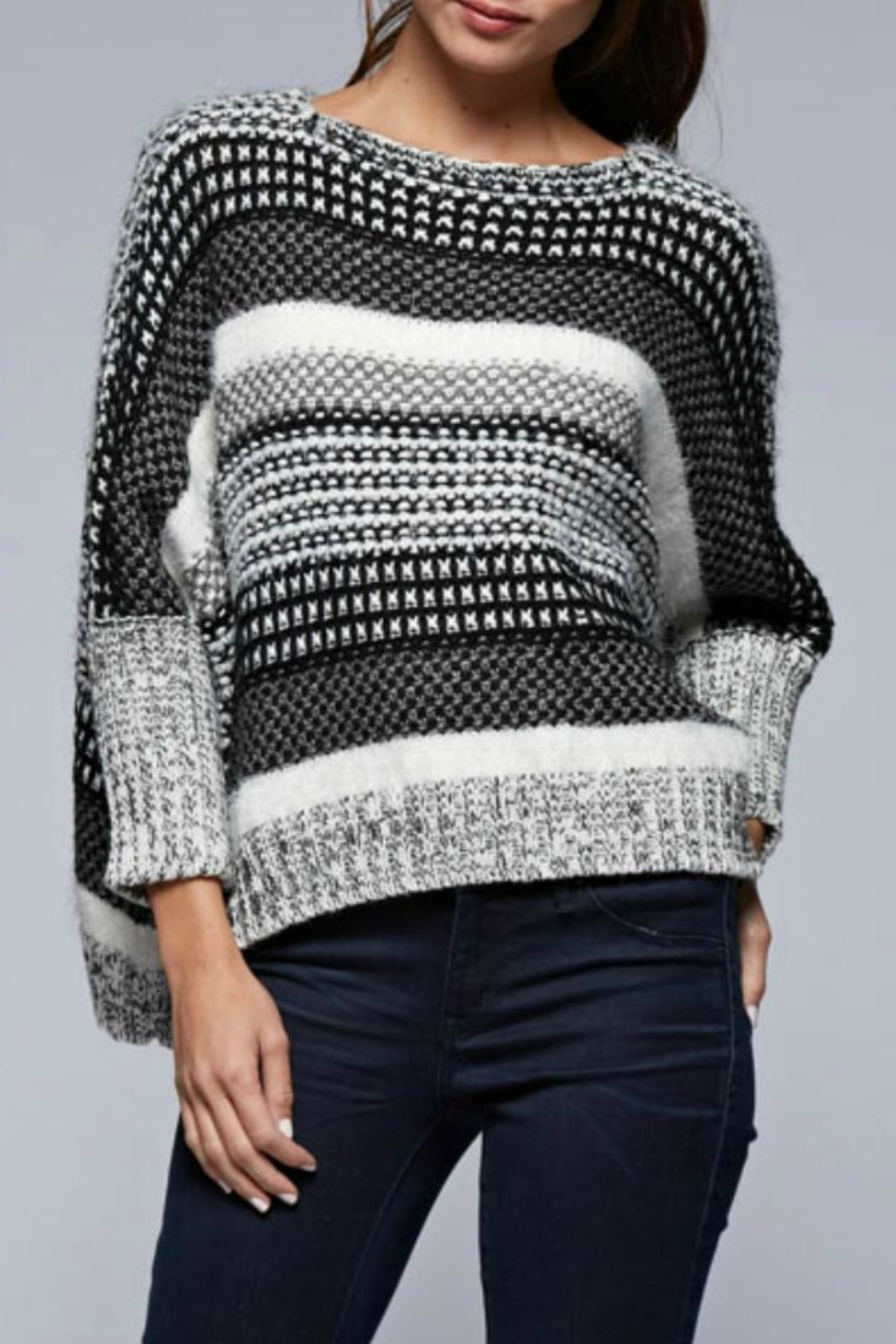 Lovestitch Striped Sweater - Main Image