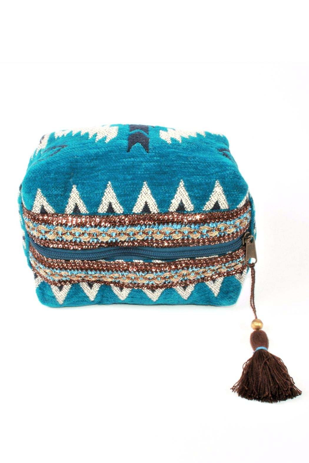 Lovestitch Tassel Makeup Bag - Front Full Image