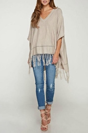 Love Stitch Lovestitch-Taupe Poncho Sweater - Product Mini Image