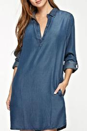 Lovestitch Tencel Shirt Dress - Front cropped