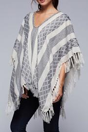 Lovestitch The Jacquard Poncho - Back cropped