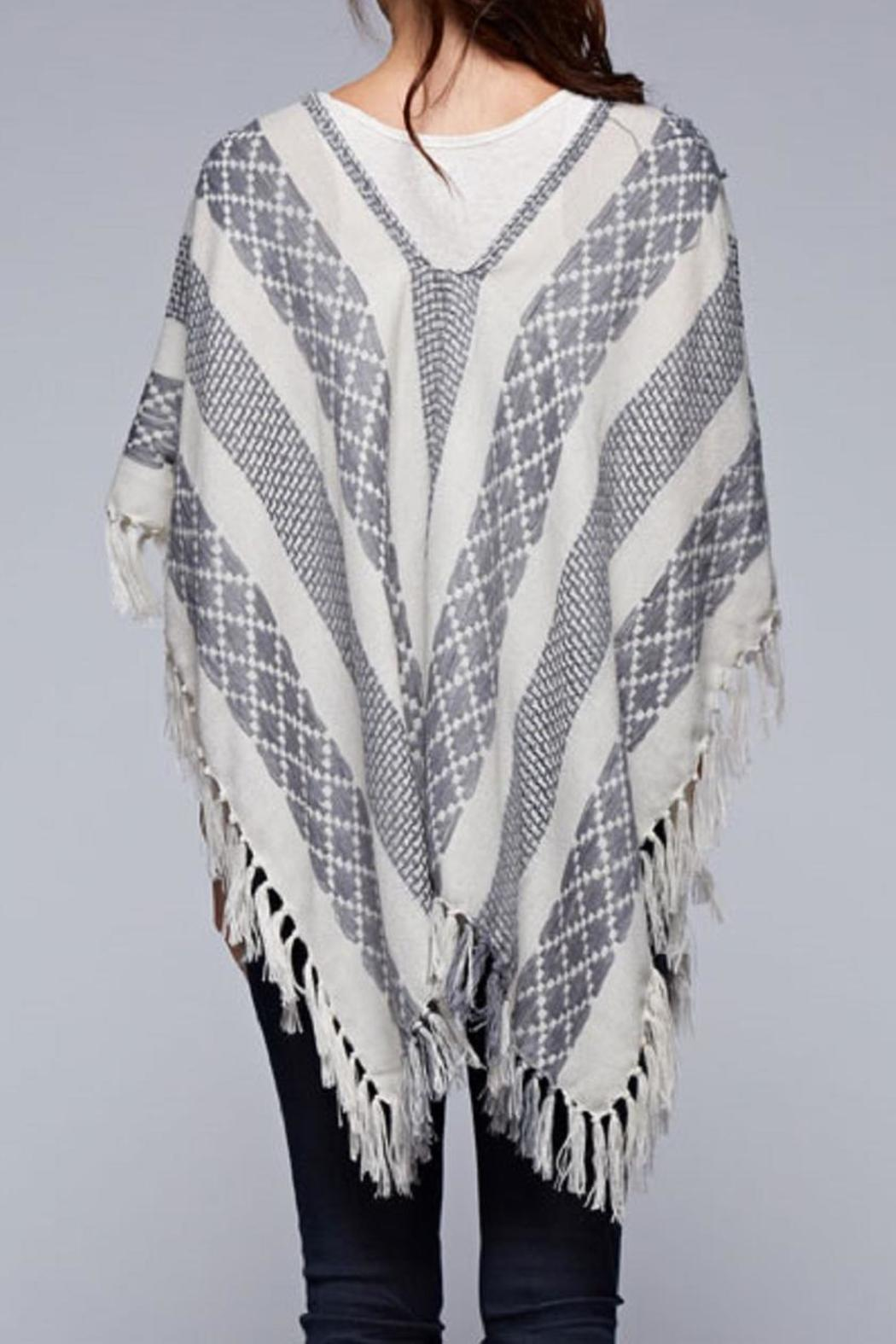 Lovestitch The Jacquard Poncho - Side Cropped Image