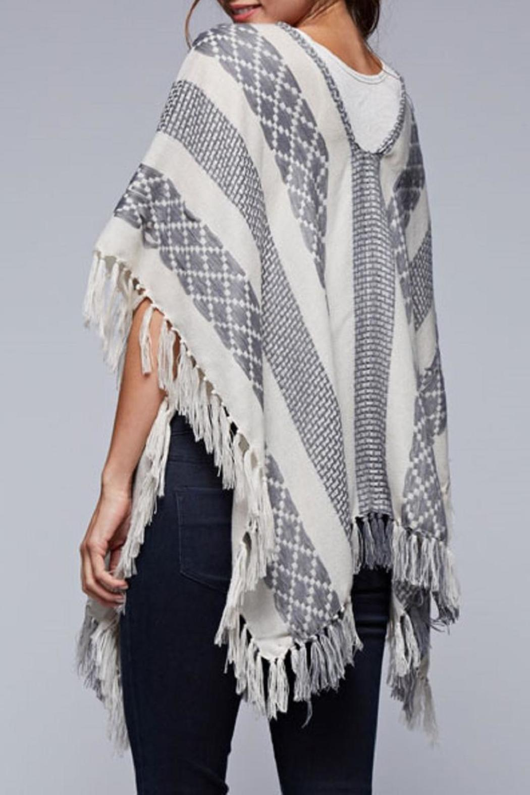 Lovestitch The Jacquard Poncho - Front Full Image