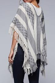Lovestitch The Jacquard Poncho - Front full body