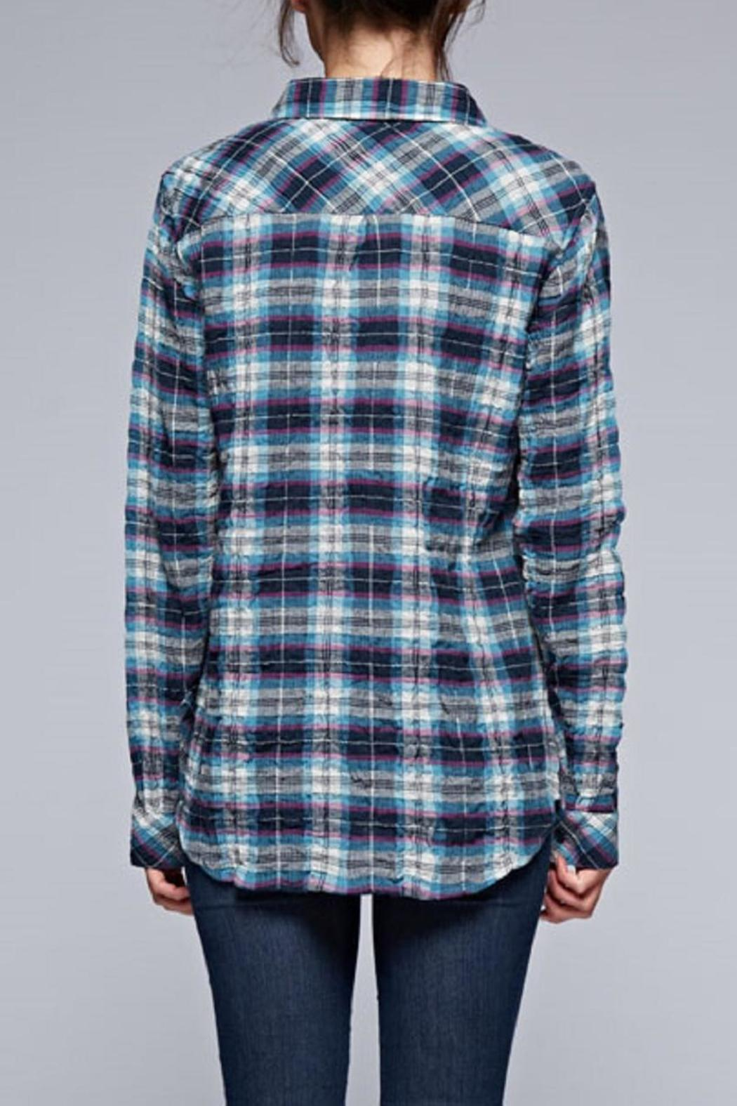 Lovestitch The Olivia Plaid Top - Side Cropped Image