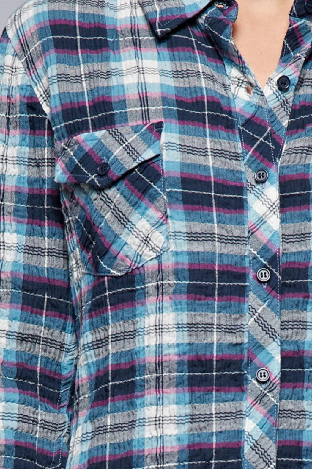 Lovestitch The Olivia Plaid Top - Front Full Image