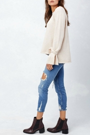 Lovestitch Tie Cuff Sweater - Side cropped
