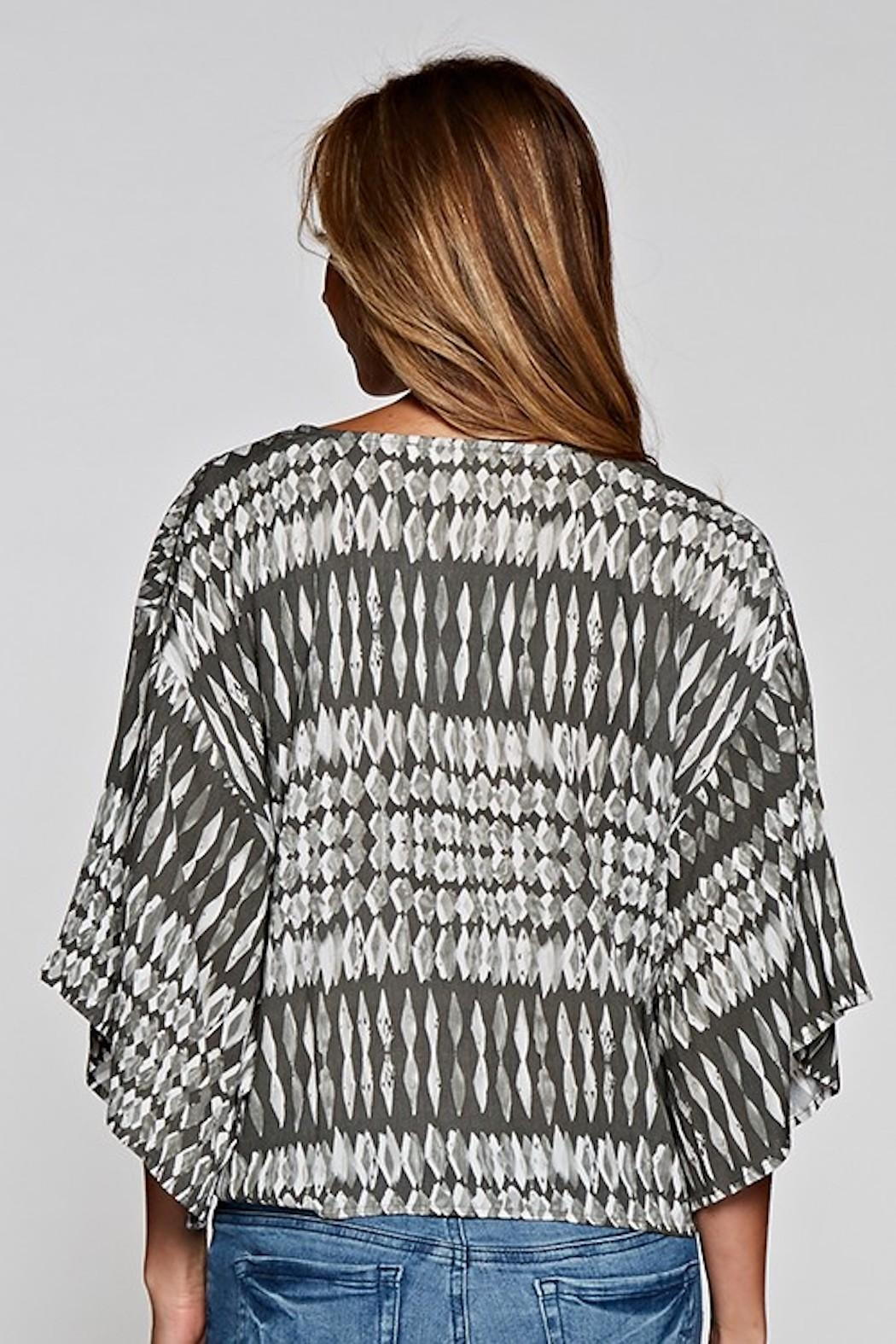 Lovestitch Tie Front Blouse - Back Cropped Image