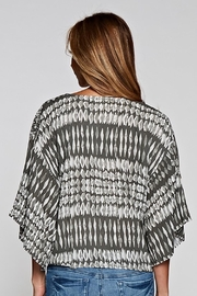 Lovestitch Tie Front Blouse - Back cropped