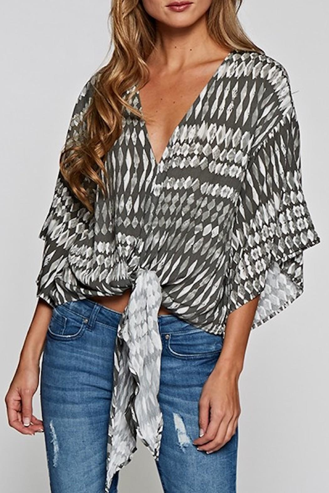 Lovestitch Tie Front Blouse - Main Image