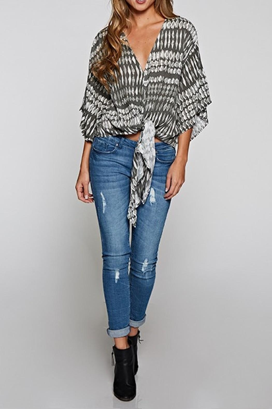 Lovestitch Tie Front Blouse - Front Full Image