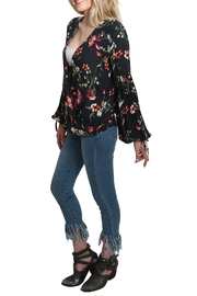 Lovestitch Tie Sleeve Top - Front full body