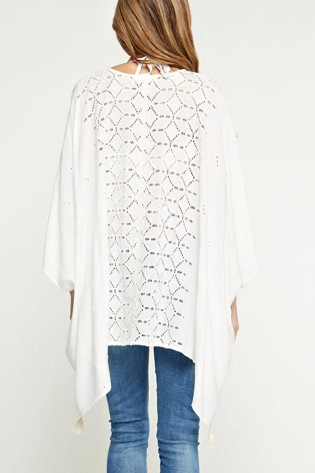 Lovestitch Embroidered Eyelet Top - Front Full Image