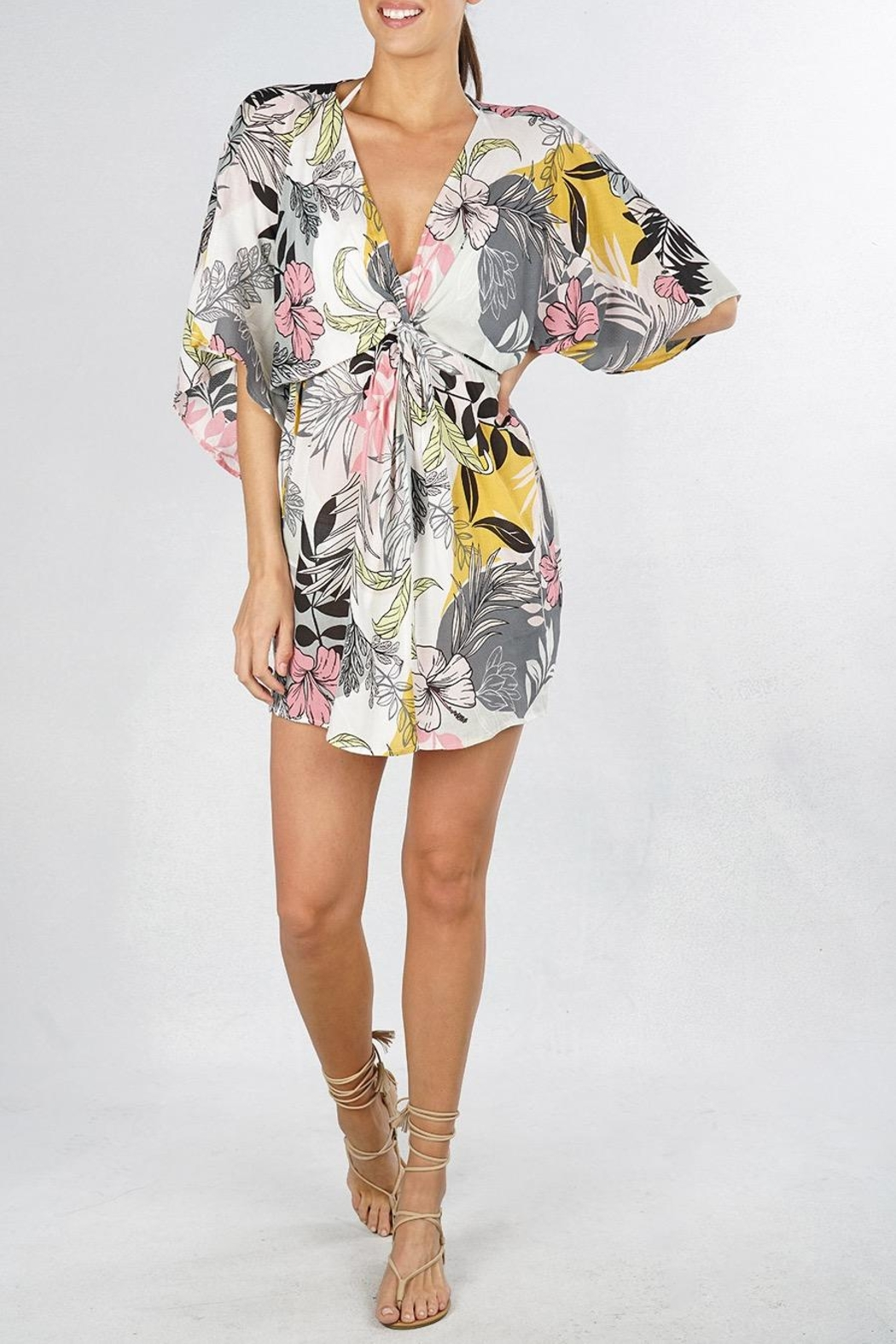 Lovestitch Tropical Floral Coverup - Main Image