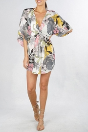 Lovestitch Tropical Floral Coverup - Front cropped