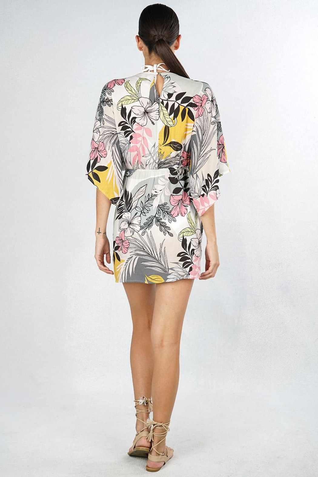 Lovestitch Tropical Floral Coverup - Front Full Image