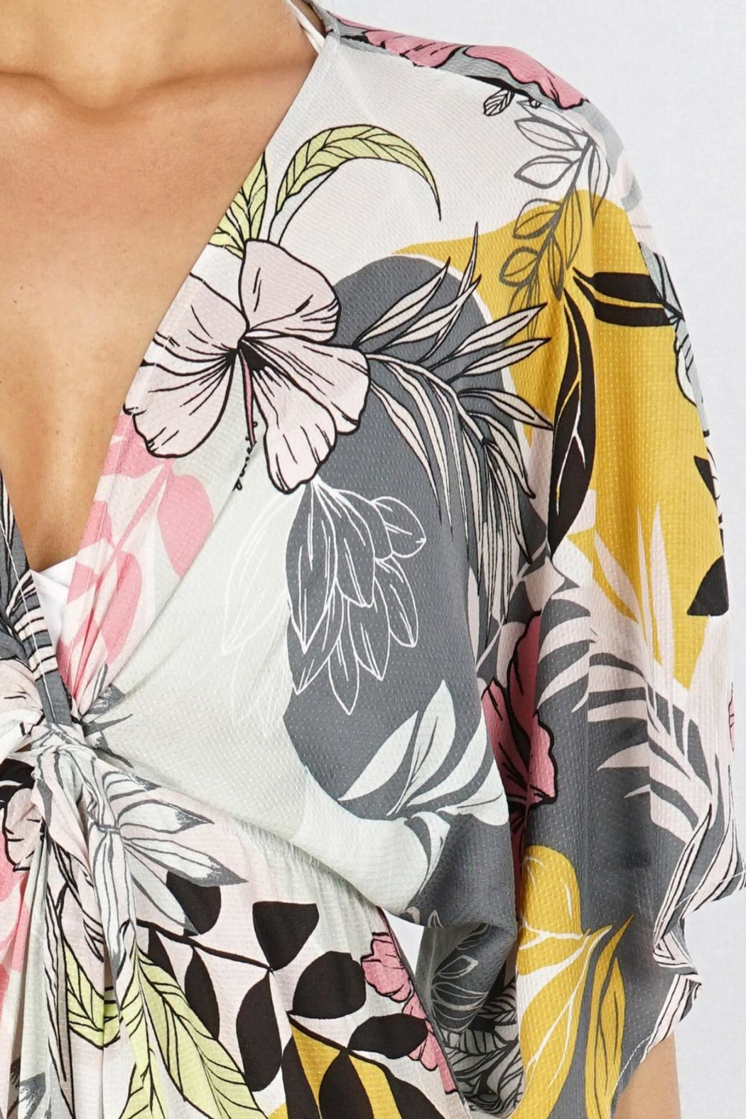 Lovestitch Tropical Floral Coverup - Back Cropped Image