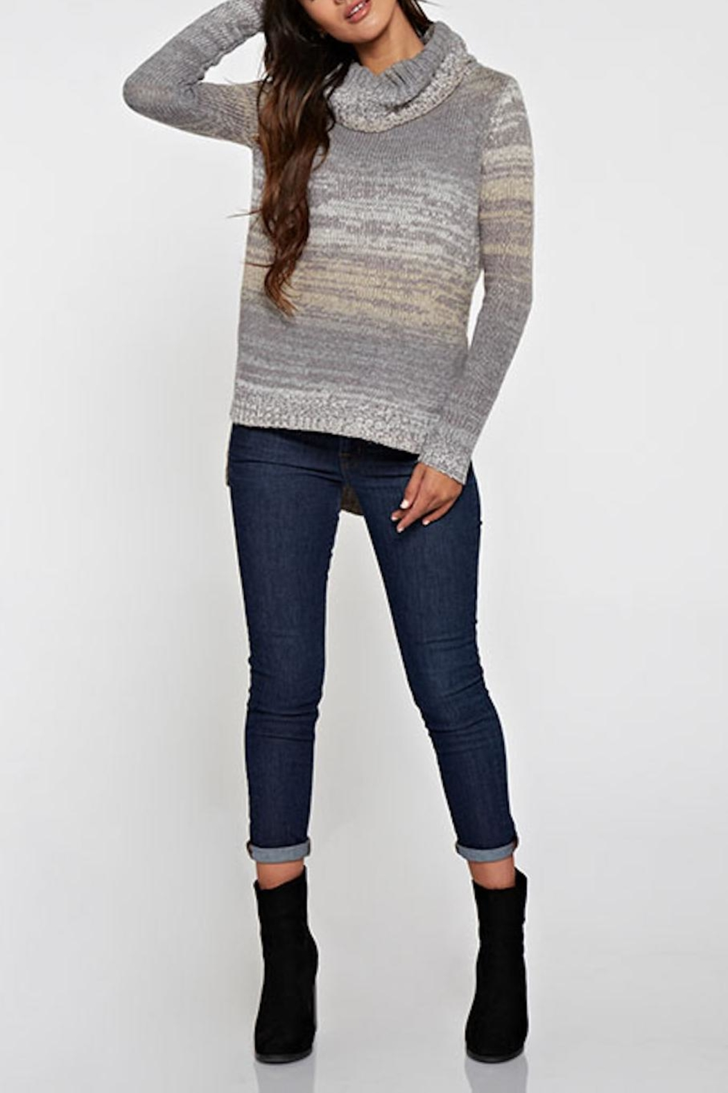 Lovestitch Turtleneck Sweater - Front Cropped Image