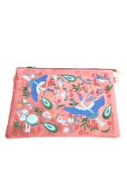 Lovestitch Velvet Embroidered Clutch - Product Mini Image