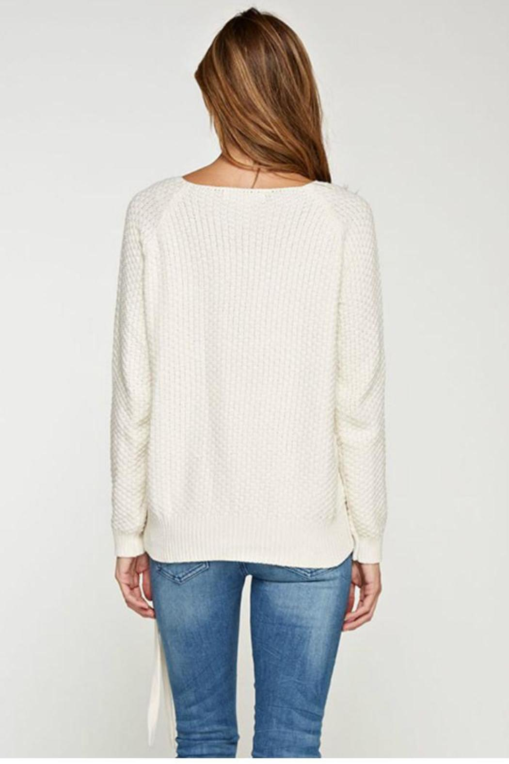 Lovestitch Waffle Knit Sweater - Front Full Image