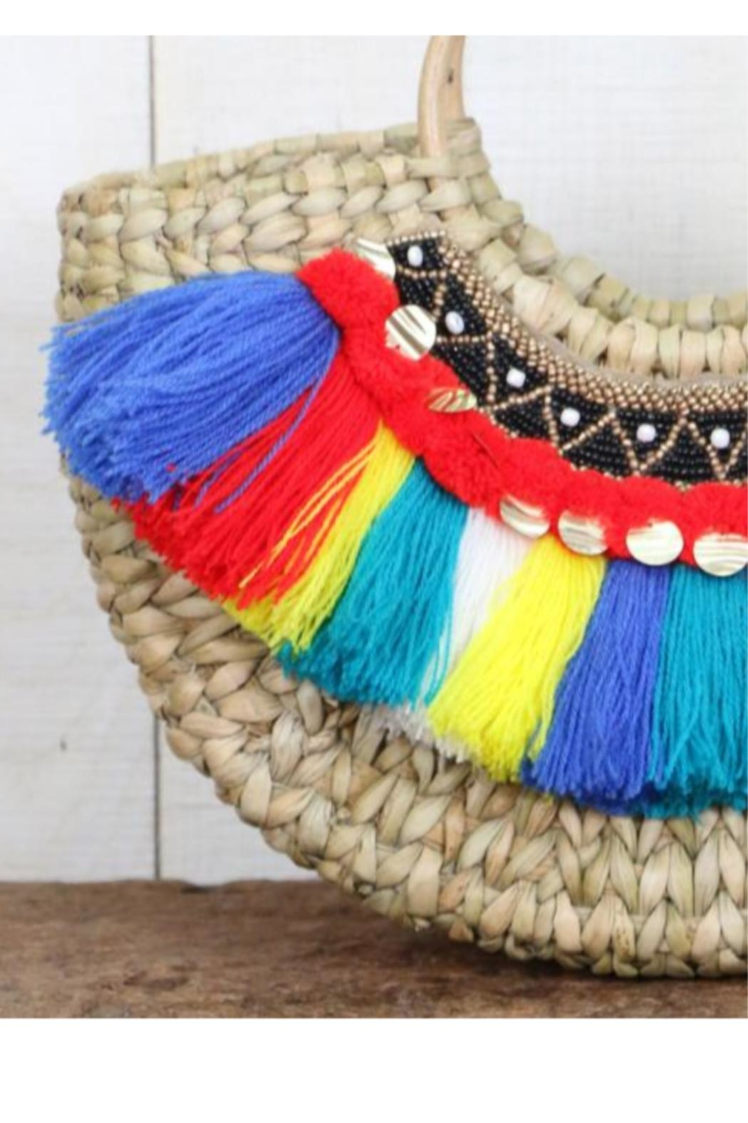 Lovestitch Woven-Bag With Fringe - Side Cropped Image