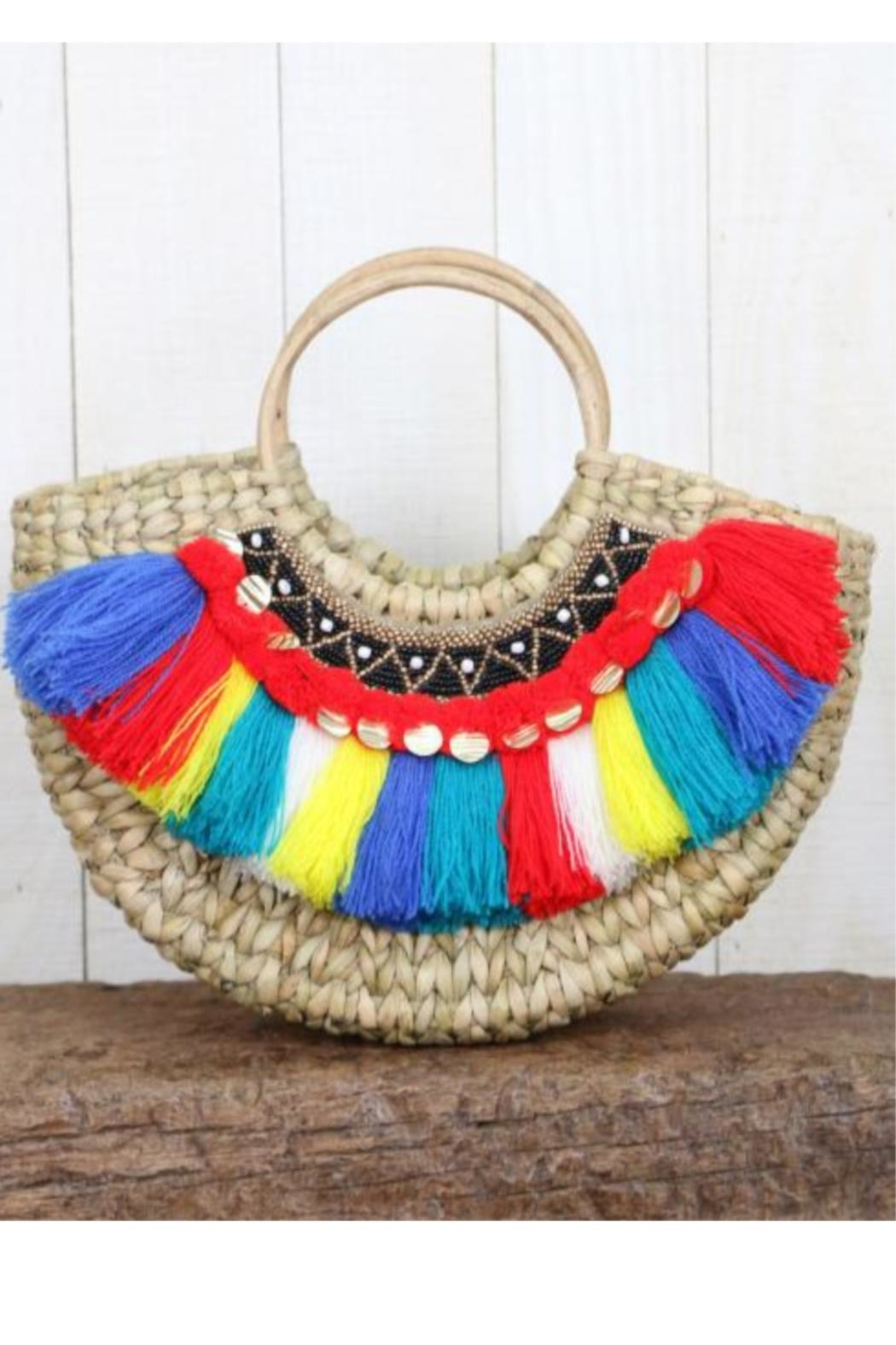 Lovestitch Woven-Bag With Fringe - Main Image