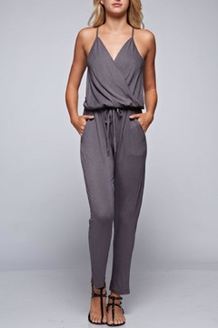 Shoptiques Product: Grey Wrap Jersey Jumpsuit