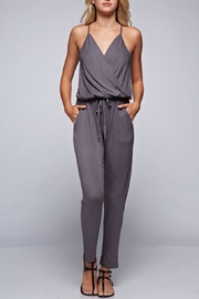 Lovestitch Grey Wrap Jersey Jumpsuit - Product Mini Image