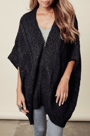 Lovestitch Zip-Up Poncho - Front cropped