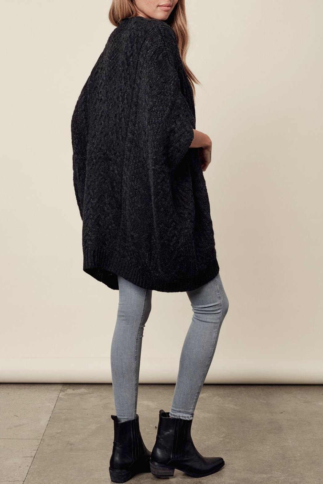 Lovestitch Zip-Up Poncho - Back Cropped Image