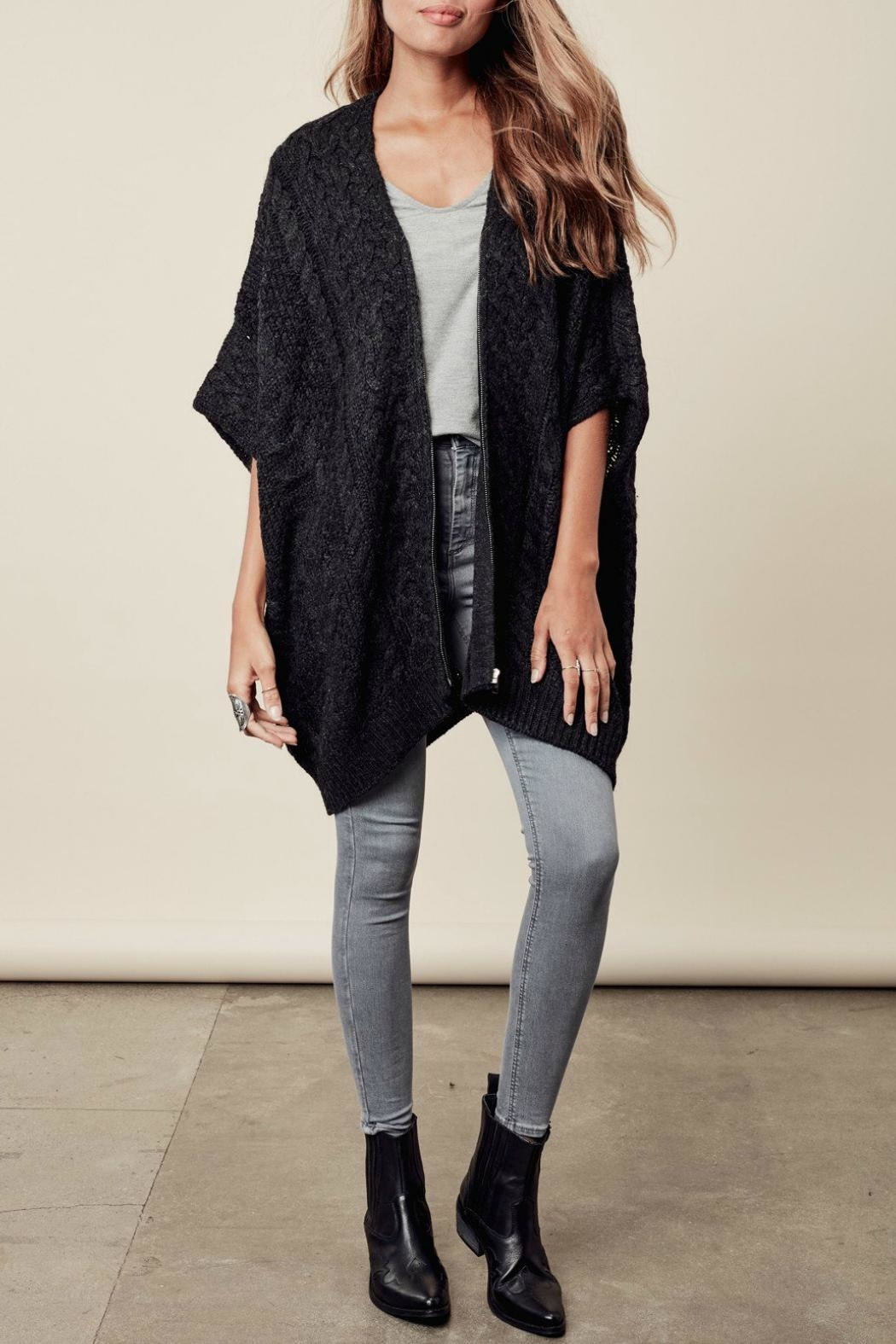 Lovestitch Zip-Up Poncho - Front Full Image