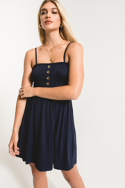 Others Follow  Lovestone Smocked & Button Dress - Front cropped