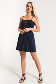 Others Follow  Lovestone Smocked & Button Dress - Back cropped