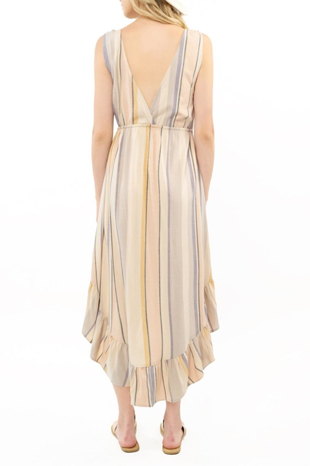 Saltwater Luxe Lovestoned Striped Maxi - Side Cropped Image