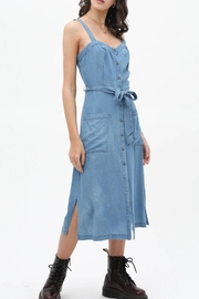 Lovetree Button-Up Denim Dress - Product Mini Image