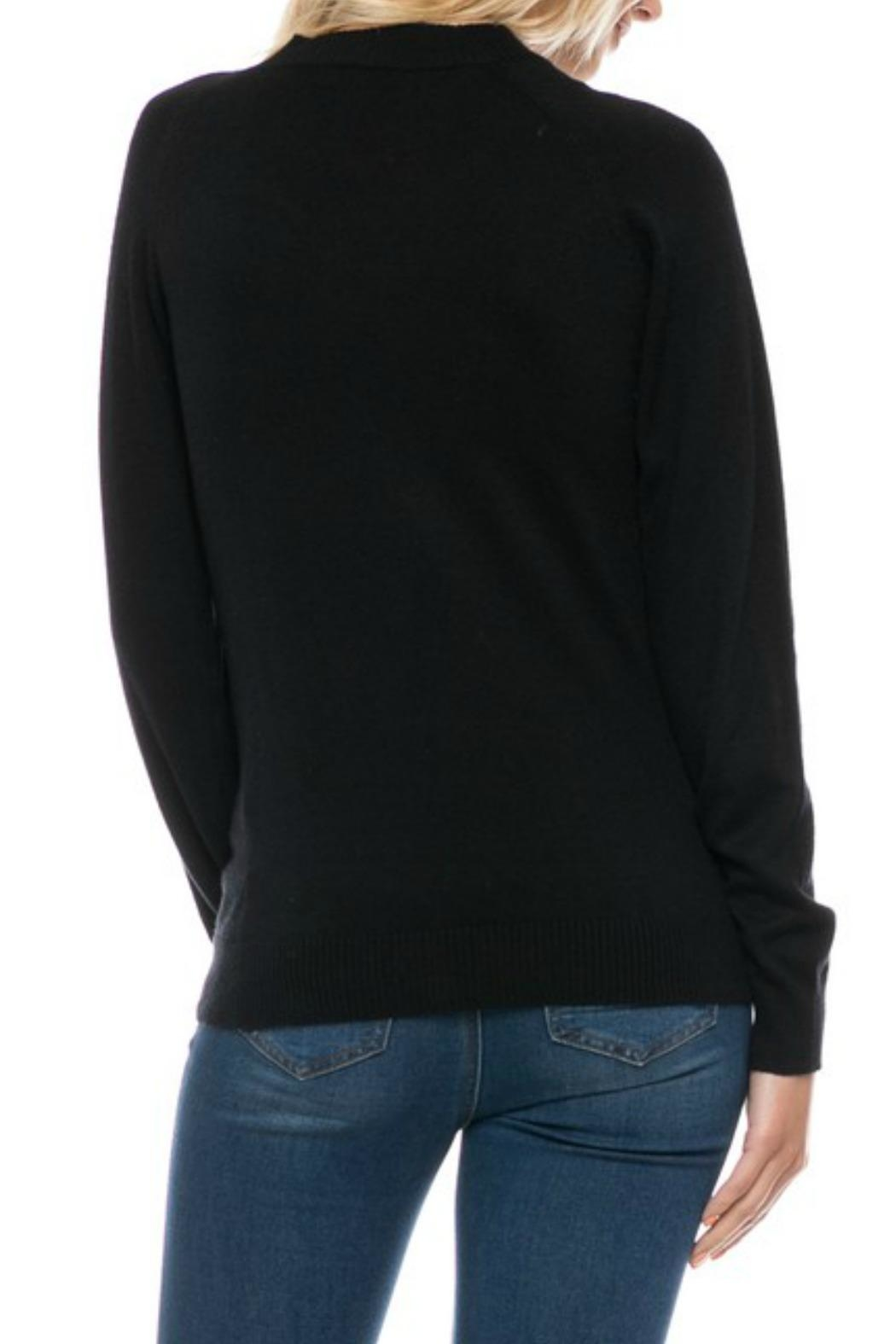 Lovetree Choker Neck Sweater - Back Cropped Image