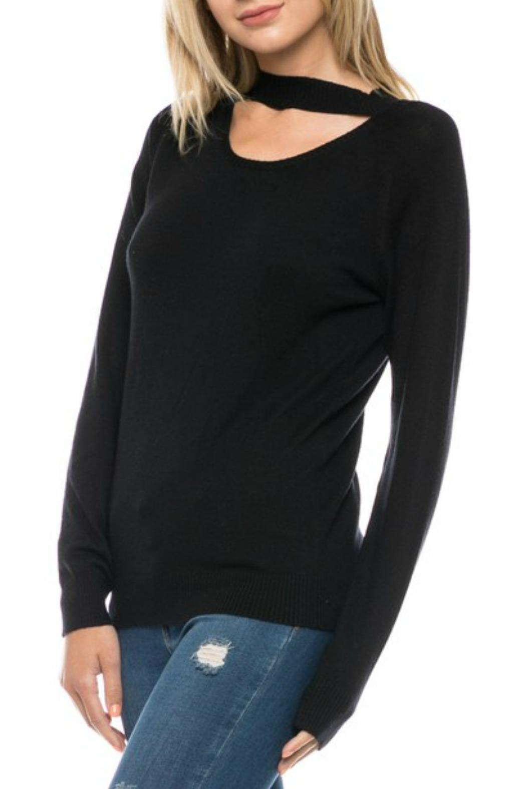 Lovetree Choker Neck Sweater - Front Cropped Image