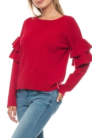 Lovetree Double Ruffle Sweater - Front cropped