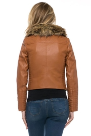 Lovetree Faux Leather Fur-Jacket - Front full body