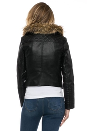 Lovetree Faux Leather Fur-Jacket - Side cropped