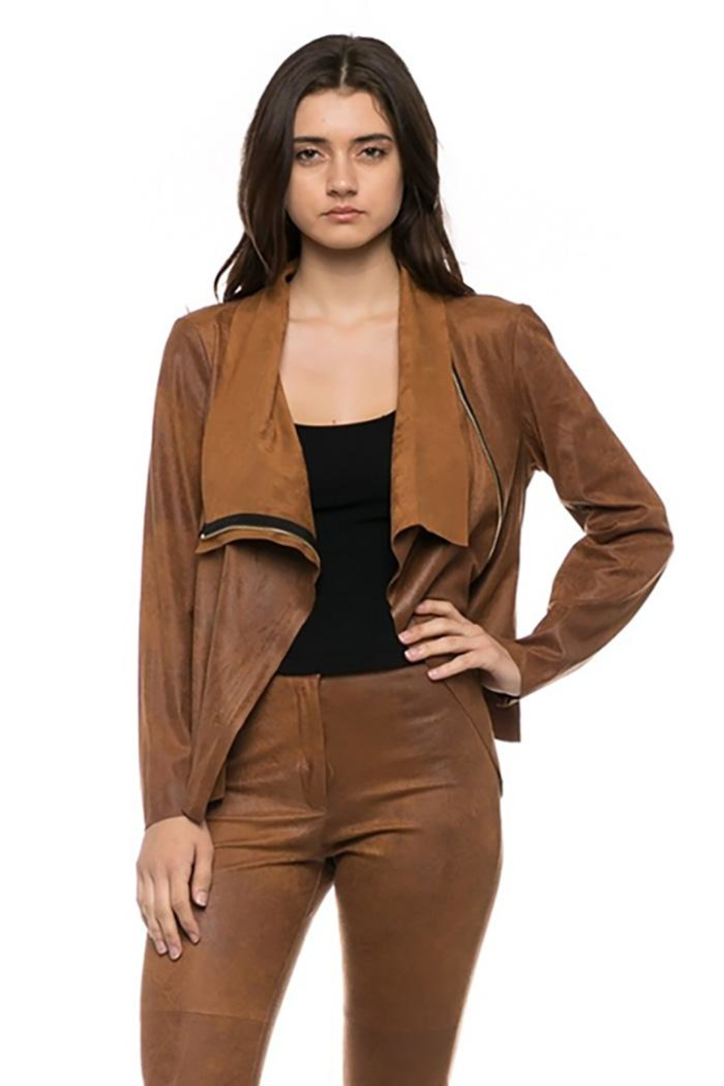 Lovetree Front Drape Jacket - Front Cropped Image