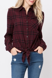 Lovetree Front-Tie Flannel Shirt - Product Mini Image