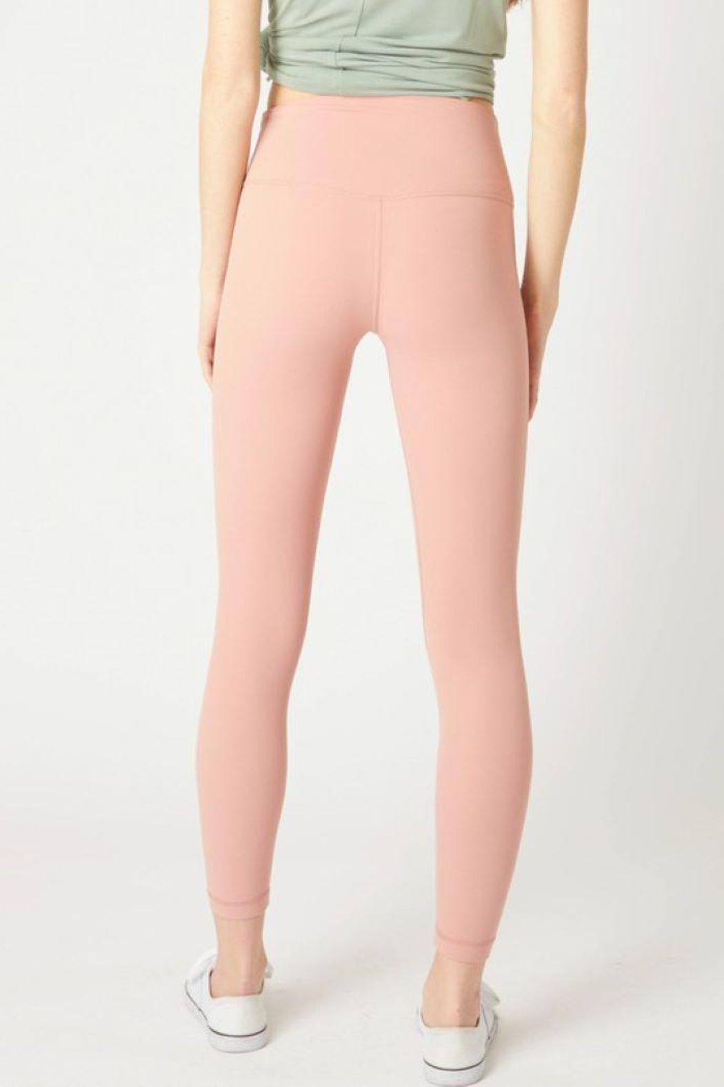 Lovetree High Waist Yoga Pants - Side Cropped Image