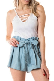 Lovetree Highwaist Belted Shorts - Front cropped