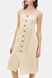 Lovetree Linen Button-Up Dress - Product Mini Image