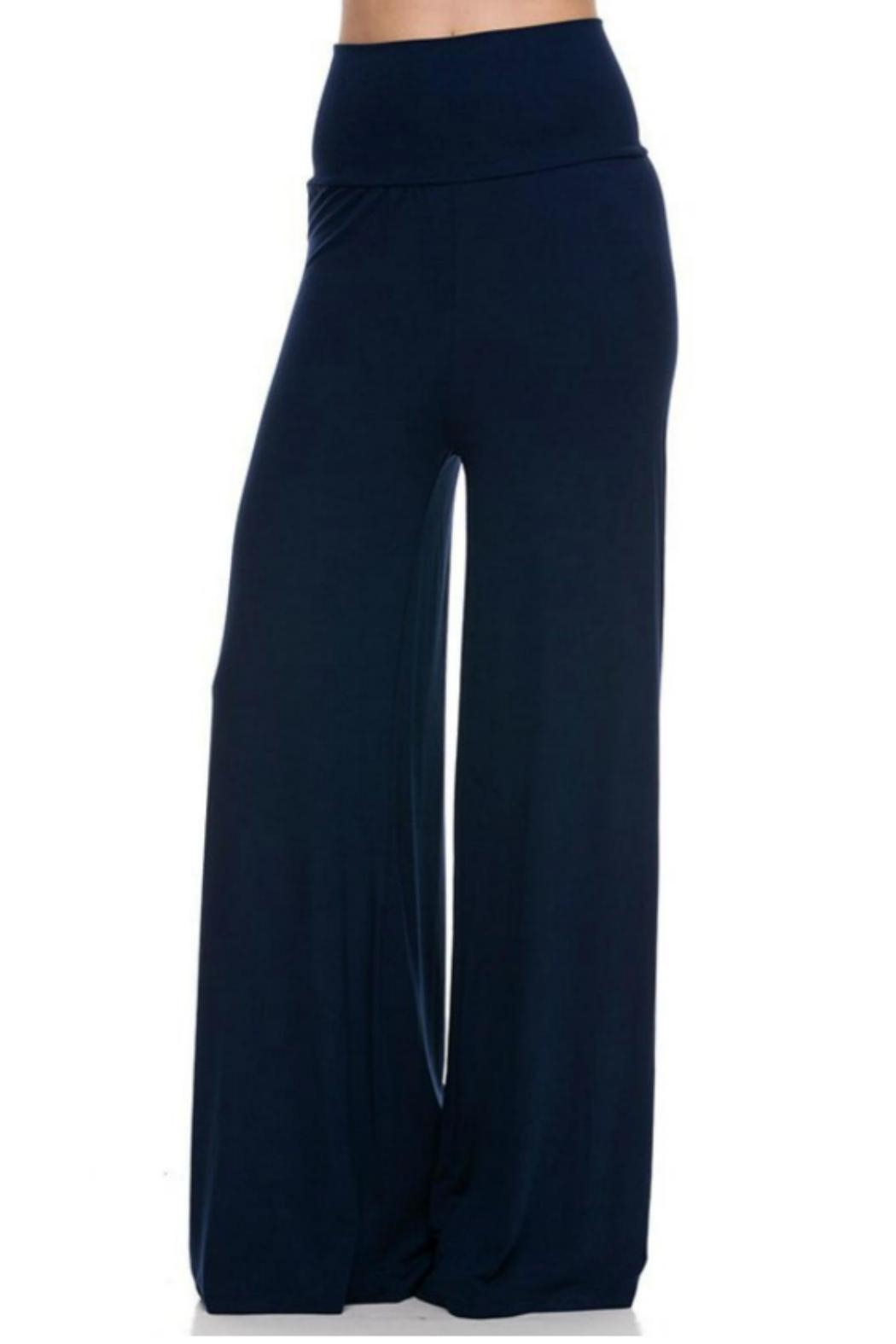 Lovetree Linen Palazzo Pants - Front Cropped Image