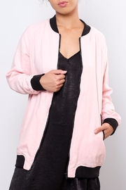 Lovetree Long Linen Bomber Jacket - Product Mini Image