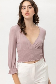 Lovetree Long Sleeve Frilled Hem Crop Top - Product Mini Image