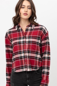 Shoptiques Product: Long-Sleeve Plaid Shirt